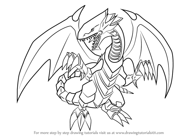 800x567 Learn How To Draw Blue Eyes White Dragon From Yu Gi Oh! Official