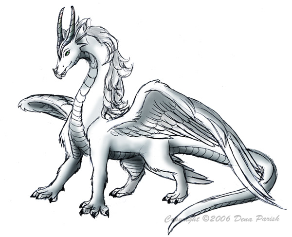 600x487 The White Dragon By Flyingpony