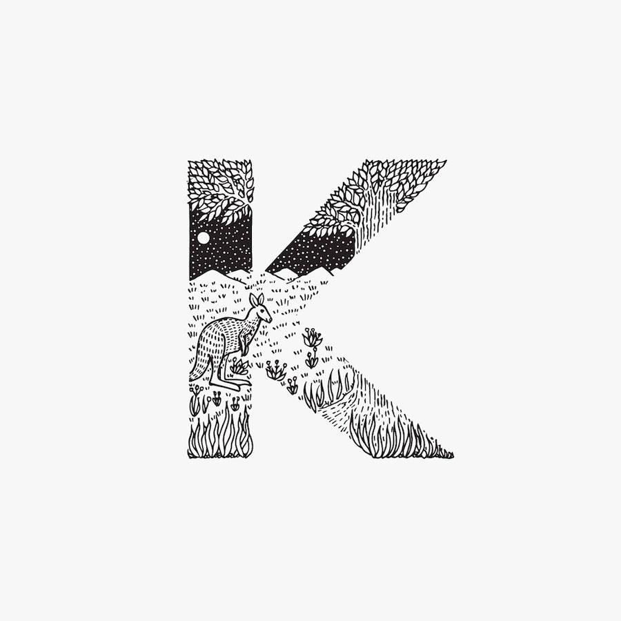 900x900 Creative Black And White Animal Alphabet Fubiz Media