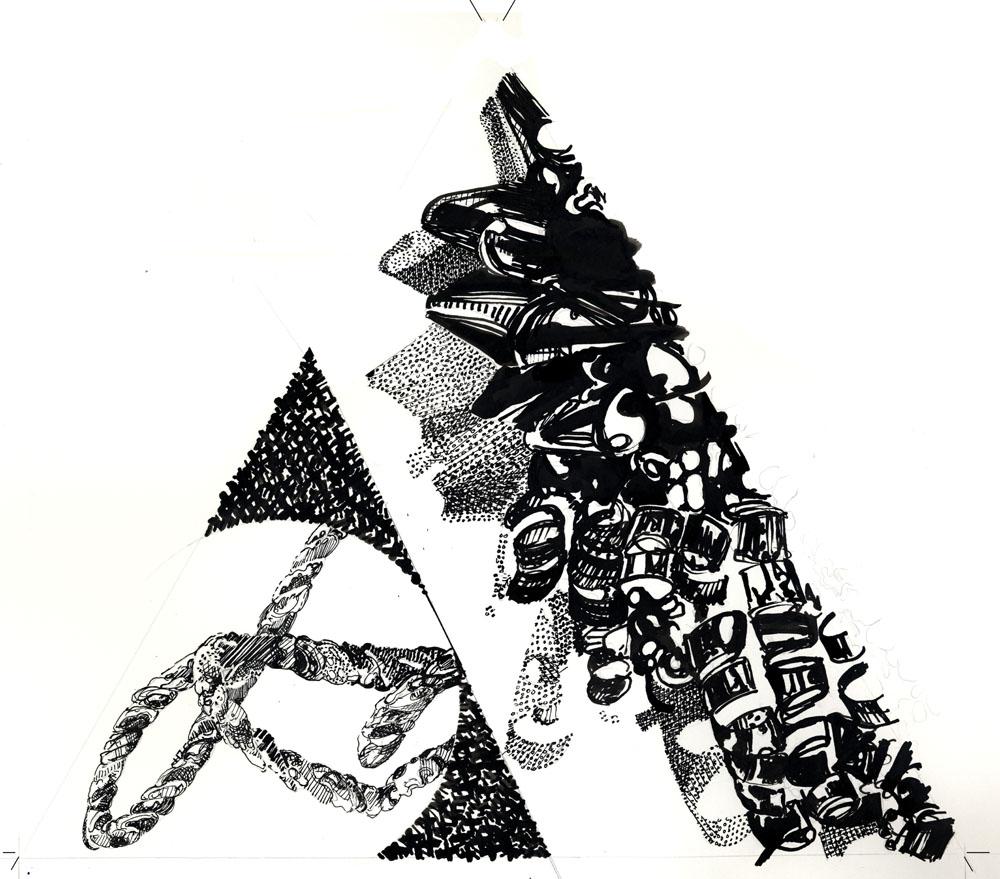 1000x879 Triangle Drawings 2007 Yolanda Sharpe