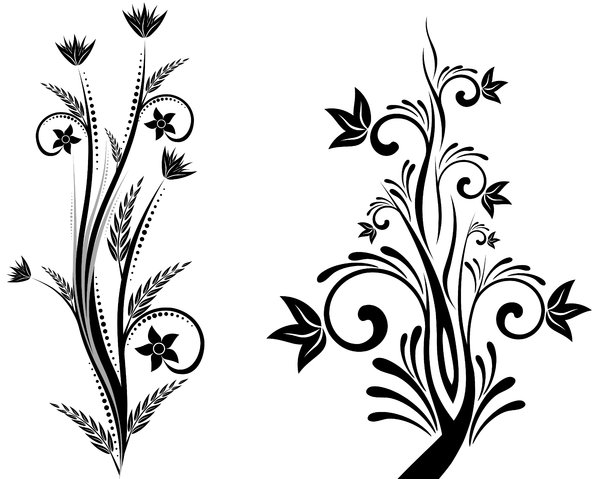Beau 600x479 Simple Flower Designs Black And White Free Download Clip Art