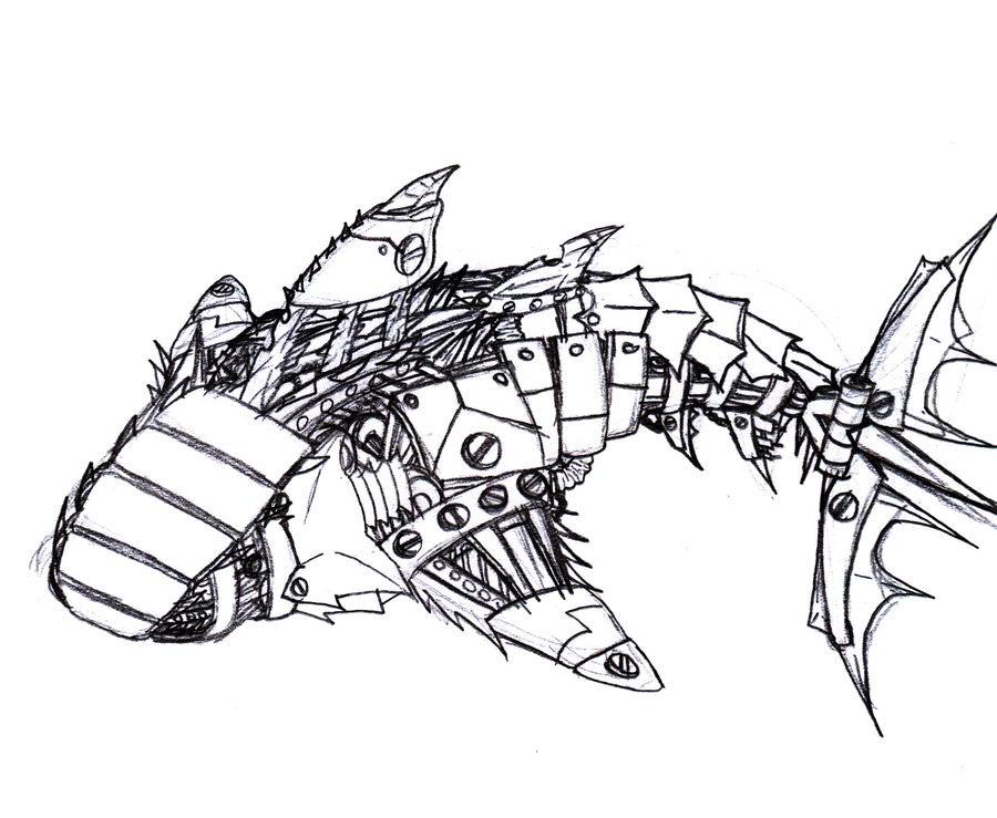 900x739 Shark Drawings, Art Ideas, Sketches Design Trends
