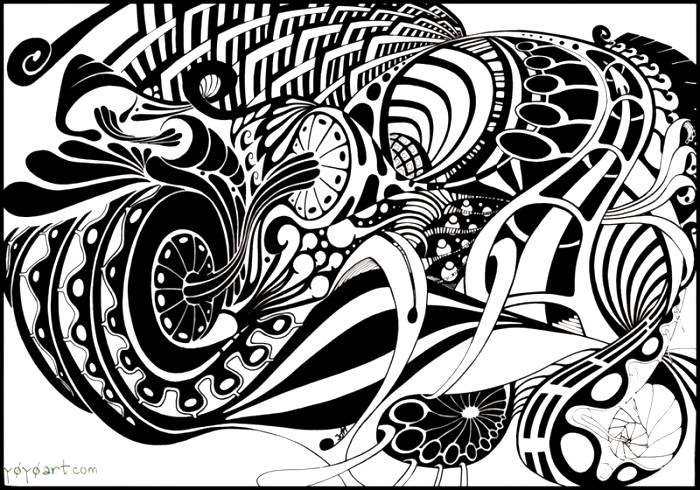 700x490 abstract art drawing ideas