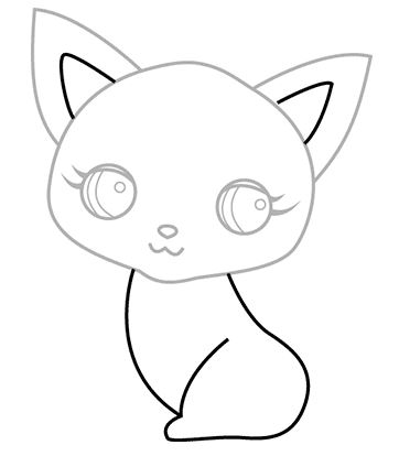 362x414 How To Draw A Cat Step By Step Tutorials