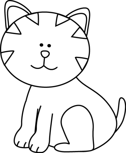 black and white drawing of a cat at getdrawings com free for rh getdrawings com black and white halloween cat clipart black and white halloween cat clipart