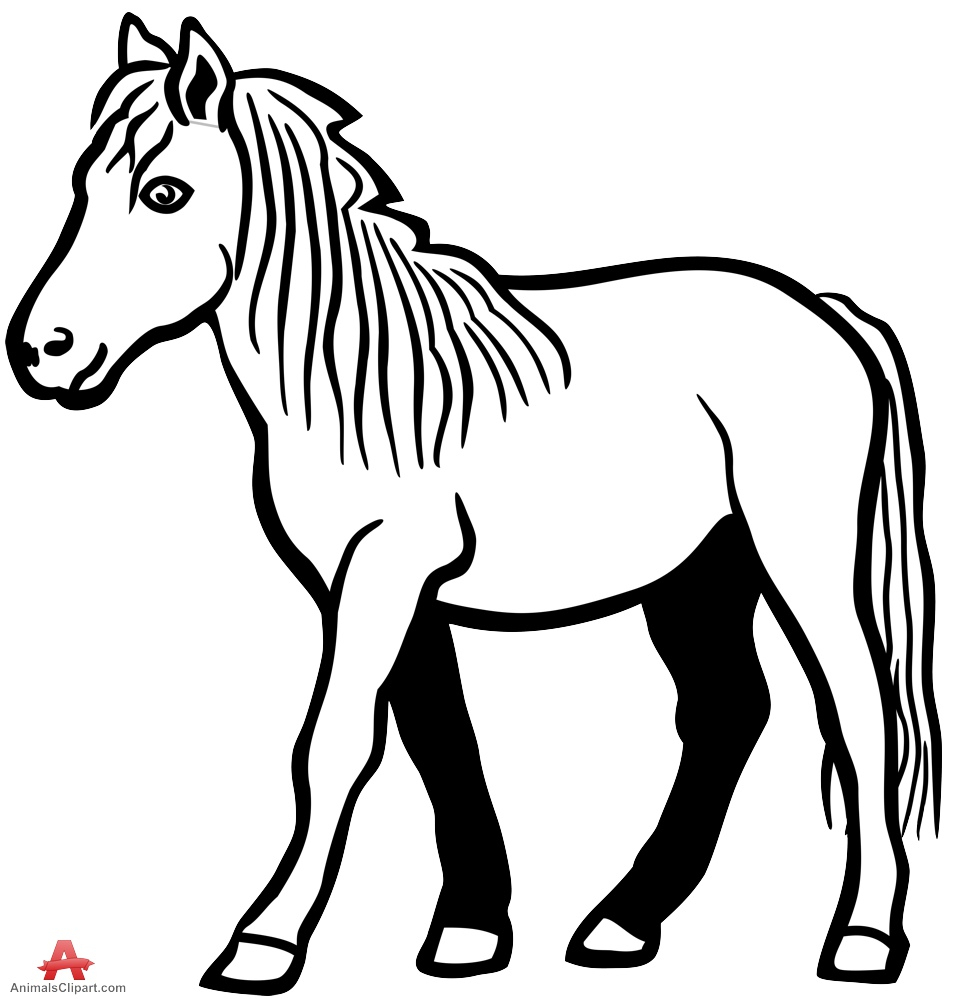 black and white drawing of a horse at getdrawings com free for rh getdrawings com Baseball Hat Clip Art Bat Outline Clip Art