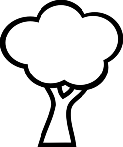 249x298 Black And White Tree Clip Art