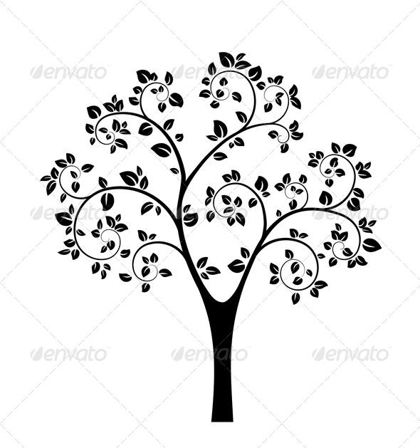 590x629 Black Vector Tree Wood Burning, Woodburning And Black