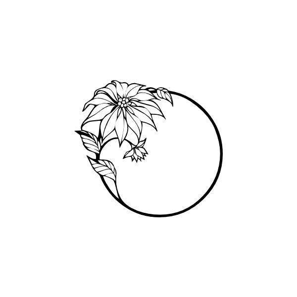 Black and white drawing of flowers at getdrawings free for 600x600 top 10 free flower borders to download now unique and versatile mightylinksfo