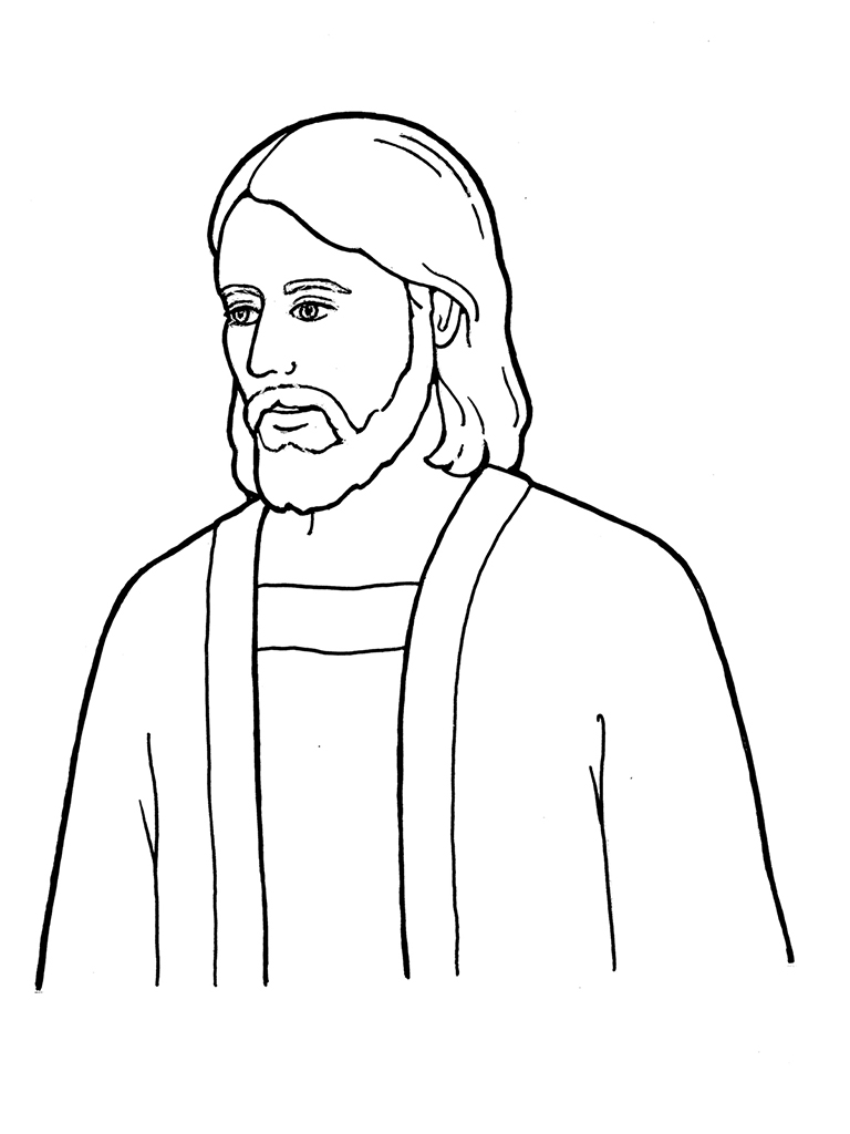 768x1024 Christ 892x1024 Coloring Pages