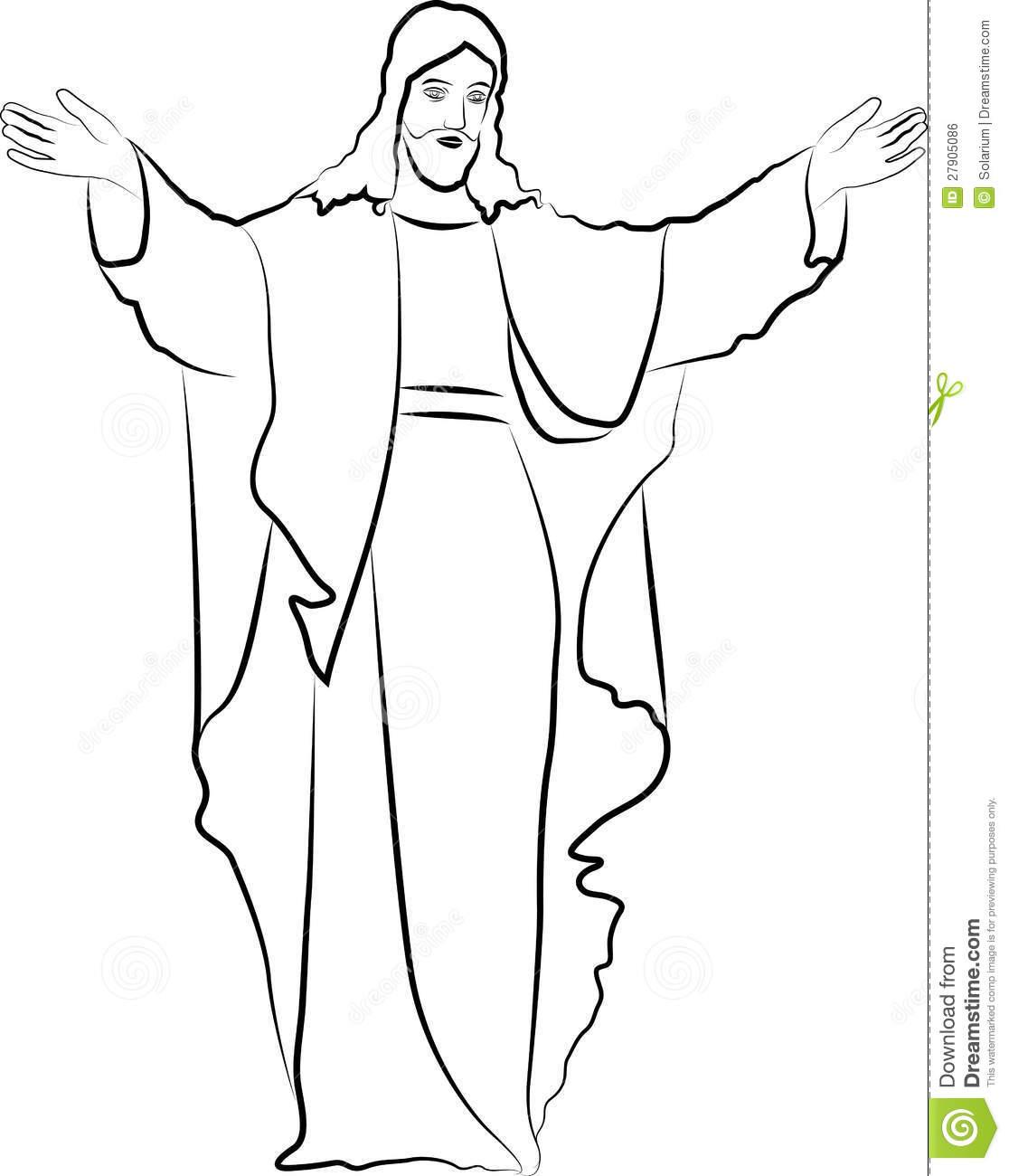 Elegant 1116x1300 Best Photos Of Jesus Outline Clip Art