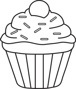 254x300 Cupcake Clipart Black And White Amp Cupcake Black And White Clip Art
