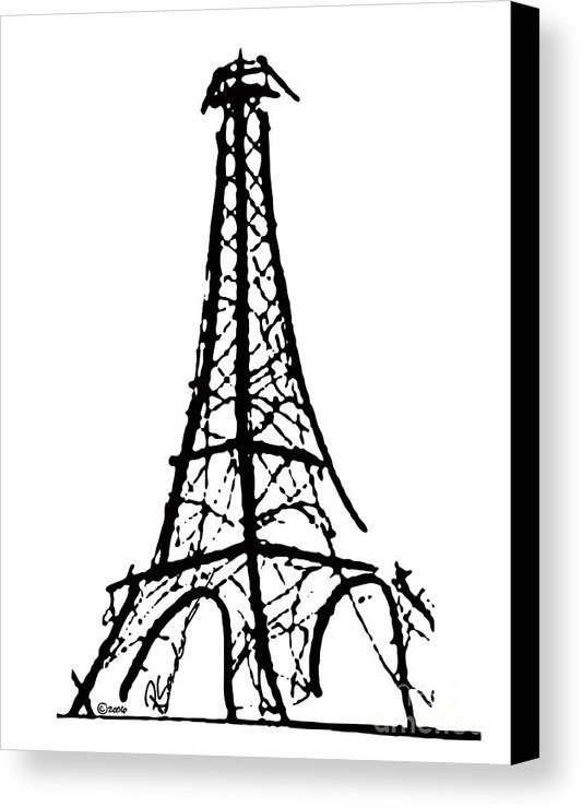 533x740 Eiffel Tower Black And White Canvas Print Canvas Art By Robyn