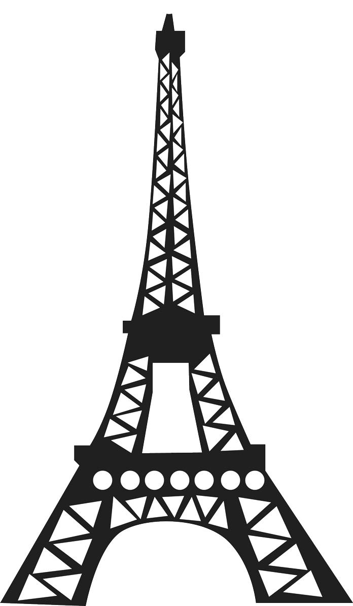 696x1194 Eiffel Tower Coloring Pages France Page Free Printable France