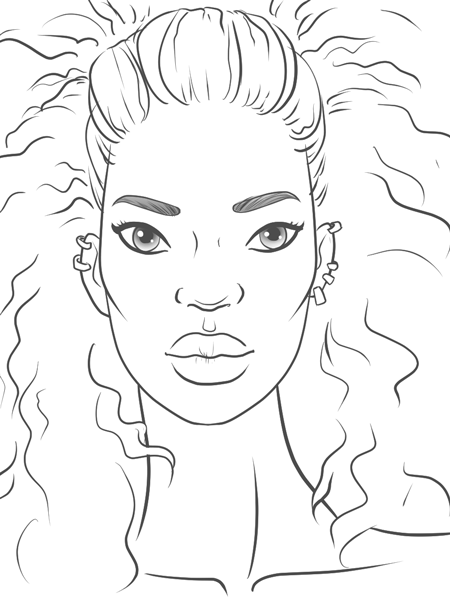 450x600 Drawing African Features I Draw Fashion