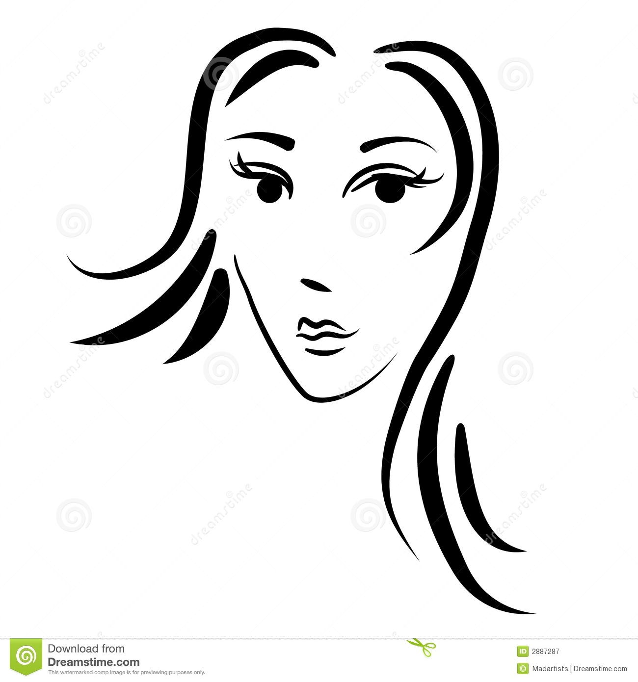 1300x1390 Gallery Face Drawing Outline Woman,