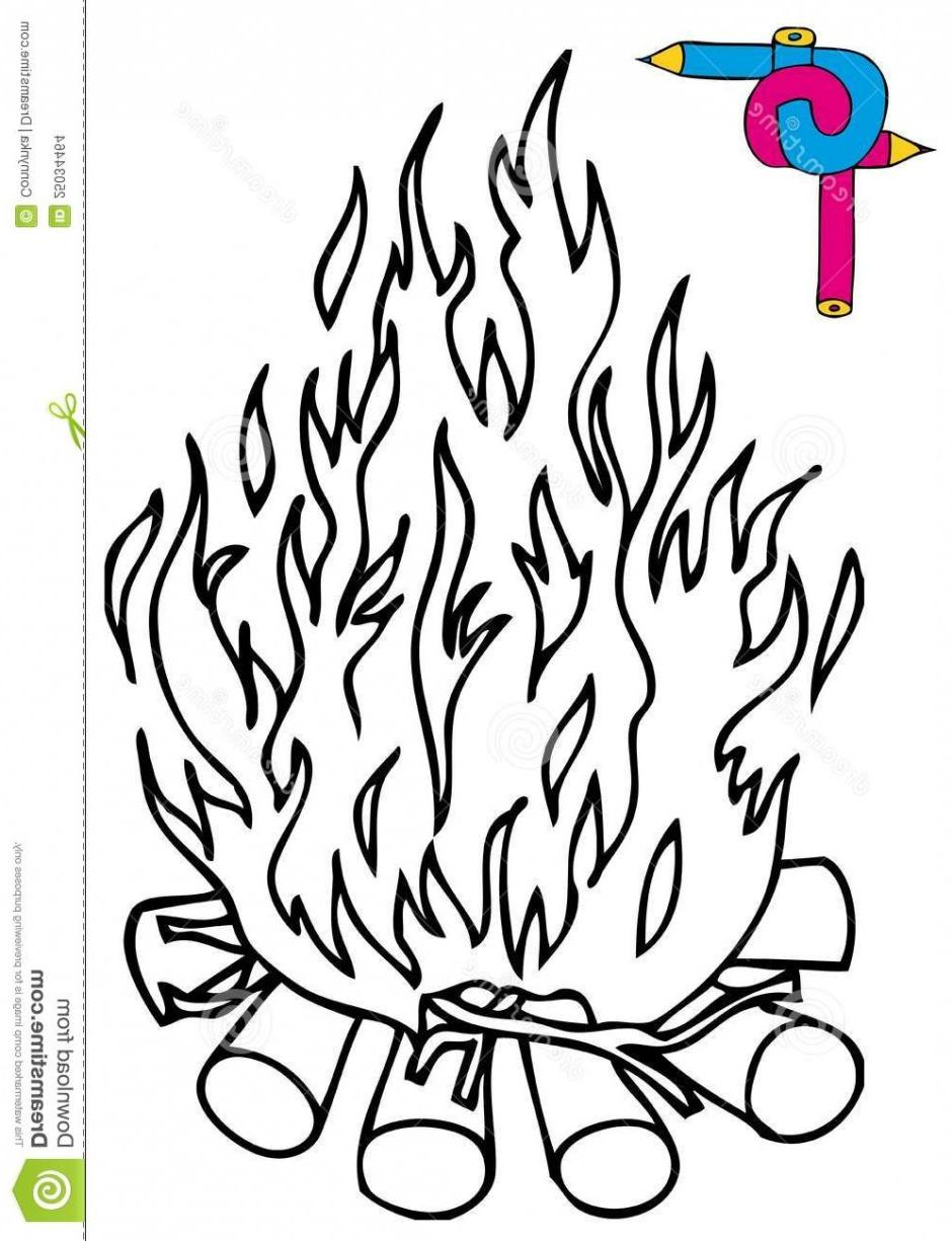 940x1225 Top 10 Cartoon Campfire Black And White Camp Fire Colouring Pages
