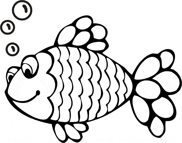 748x586 Rainbow Fish Clipart Black And White