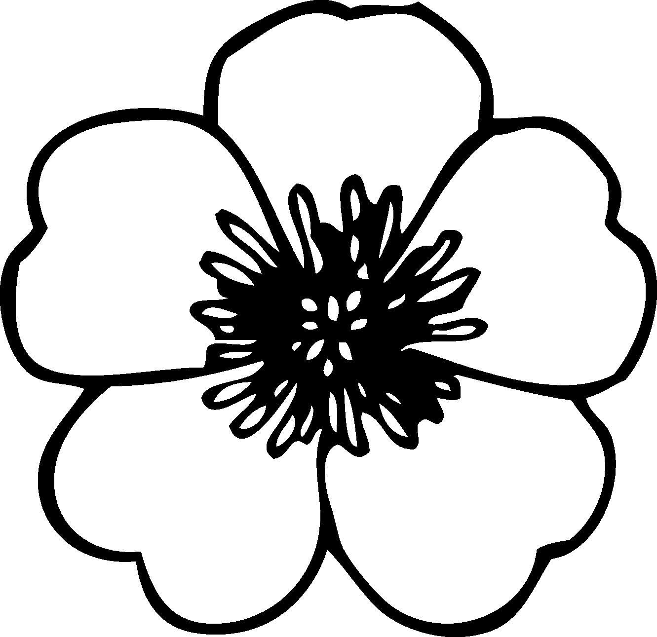 Black and white flower drawing at getdrawings free for 1331x1291 simple flower drawings in black and white black and white pictures mightylinksfo