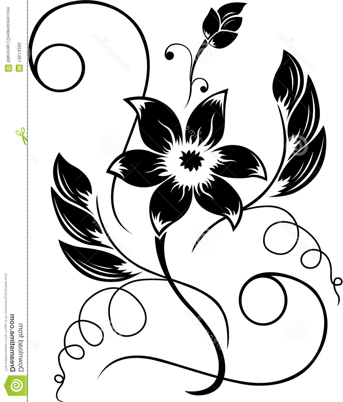 Black And White Flower Drawing at GetDrawings.com | Free for ...