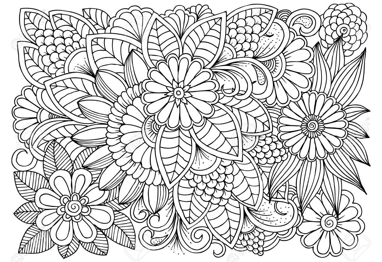 cool flower pattern coloring pages - photo#12