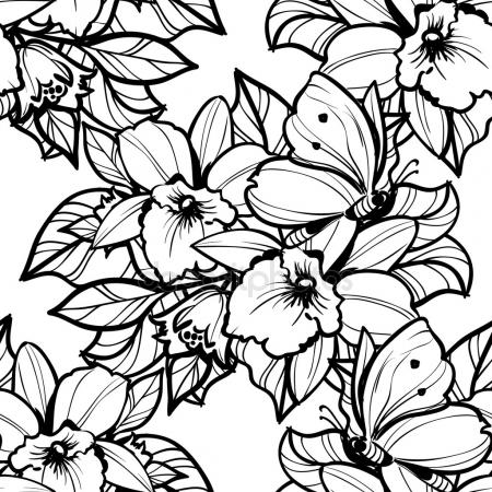 Black and white flowers drawing at getdrawings free for 450x450 peony flower drawing sketch black white line art stock vector mightylinksfo