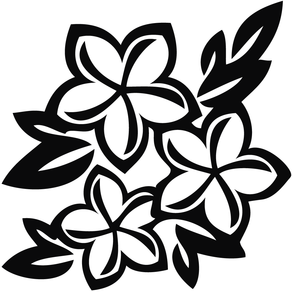 1000x1000 Black And White Flower Clipart
