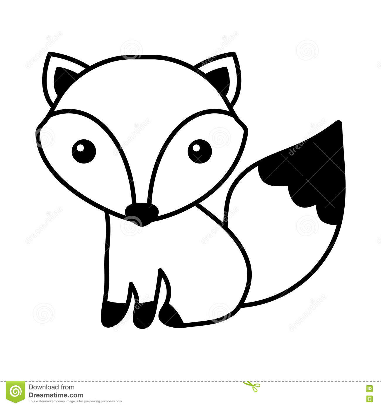 Aninimal Book: Black And White Fox Drawing at GetDrawings.com | Free for ...