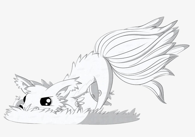 650x459 Painting Fox, Fox, White Fox, Grass Fox Png Image For Free Download