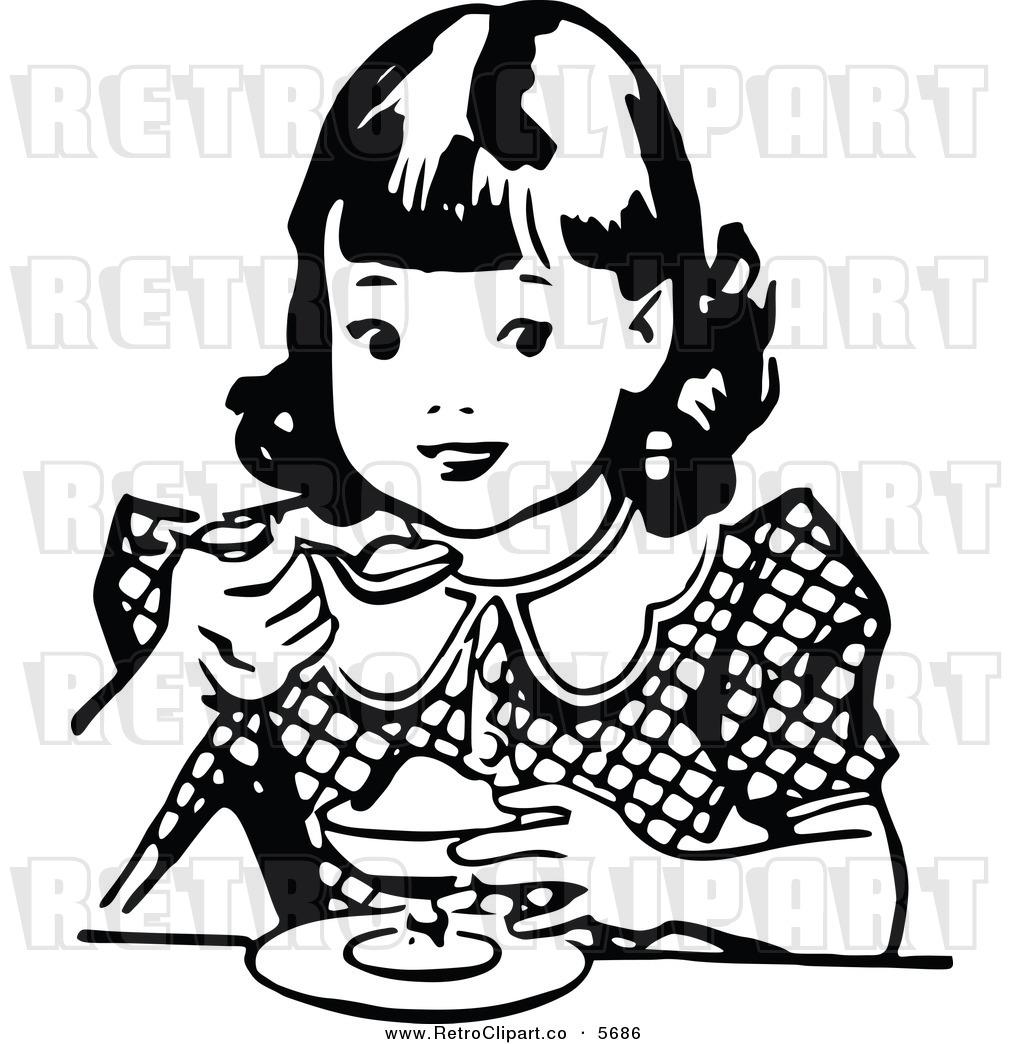 1024x1044 Black Girl Eating Clipart