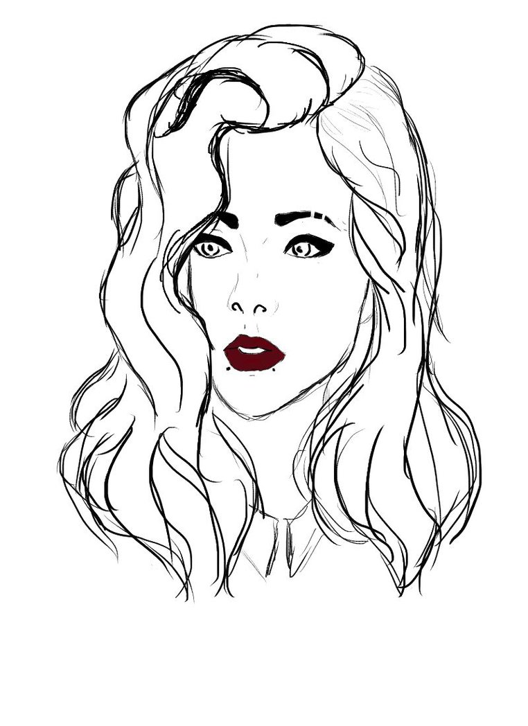 762x1048 Black And White Girl By Neon Aesthetic
