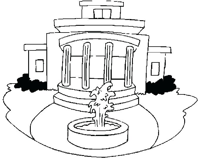 675x539 White House Coloring Pages White House Coloring Book Pages