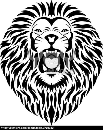 420x530 Collection Of Lion Roar In Black And White Tattoo Style