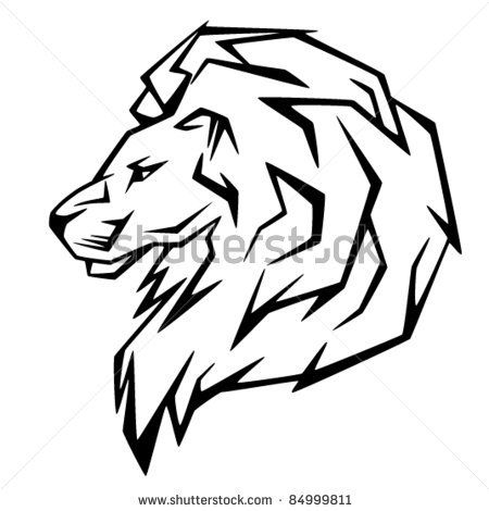 450x470 Deluxe Lion Clipart Black And White