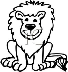 283x300 Lion Head Clipart For Kids Black And White