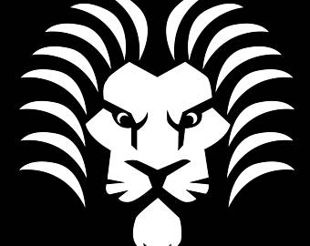 340x270 Black And White Lion Etsy