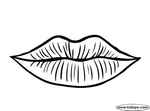 480x358 Black And White Coloring Pages Lips Page 3
