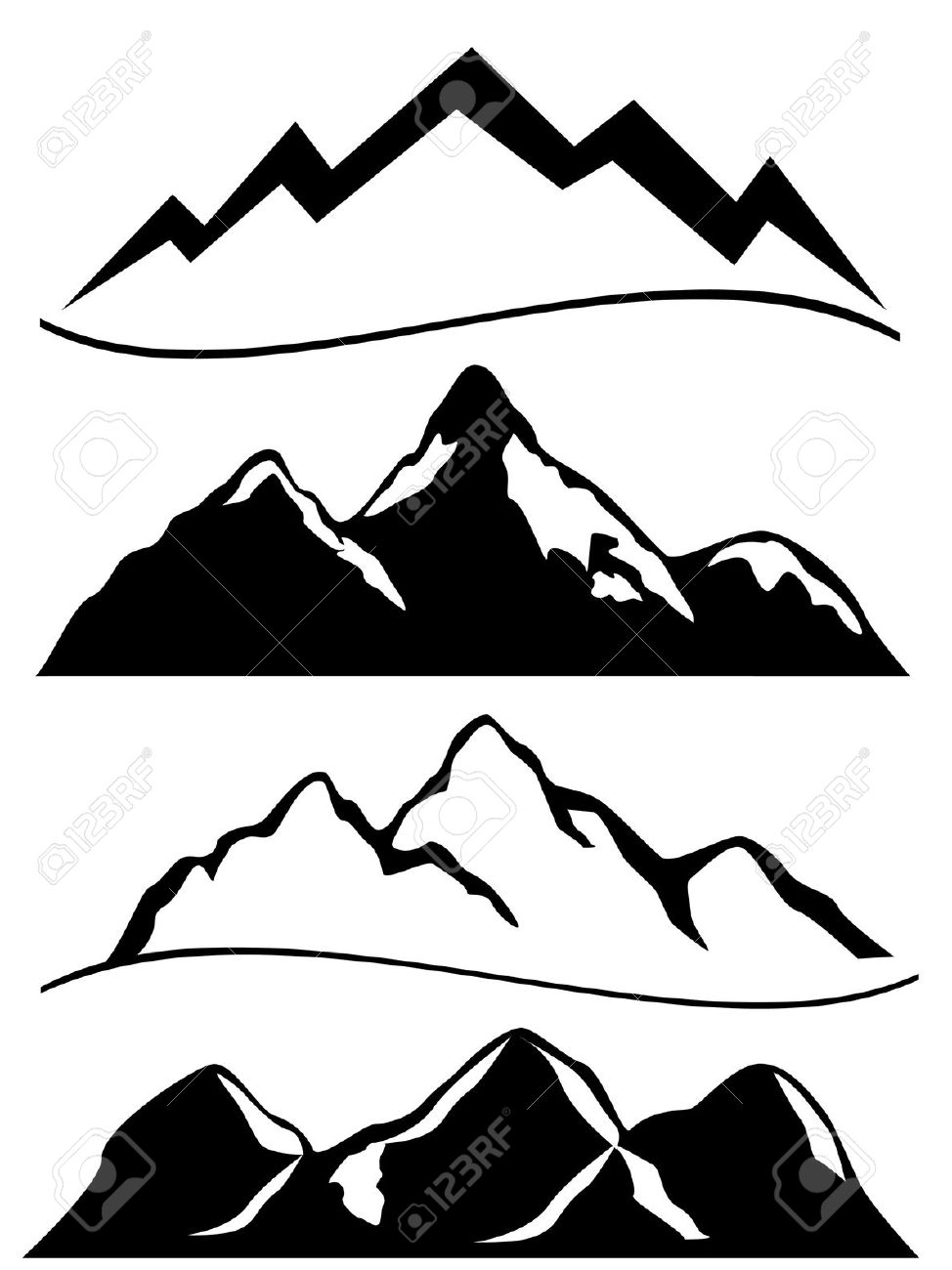 974x1300 Peak Clipart Mountain Sketch