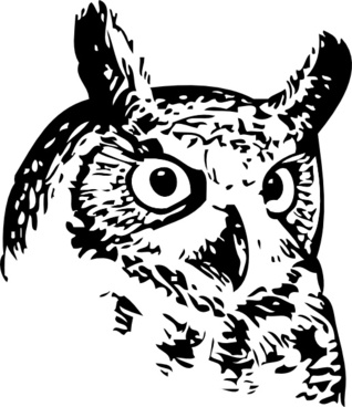 318x368 Black White Owl Clip Art Free Vector Download 215338