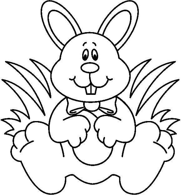 579x625 Rabbit Clipart Black And White