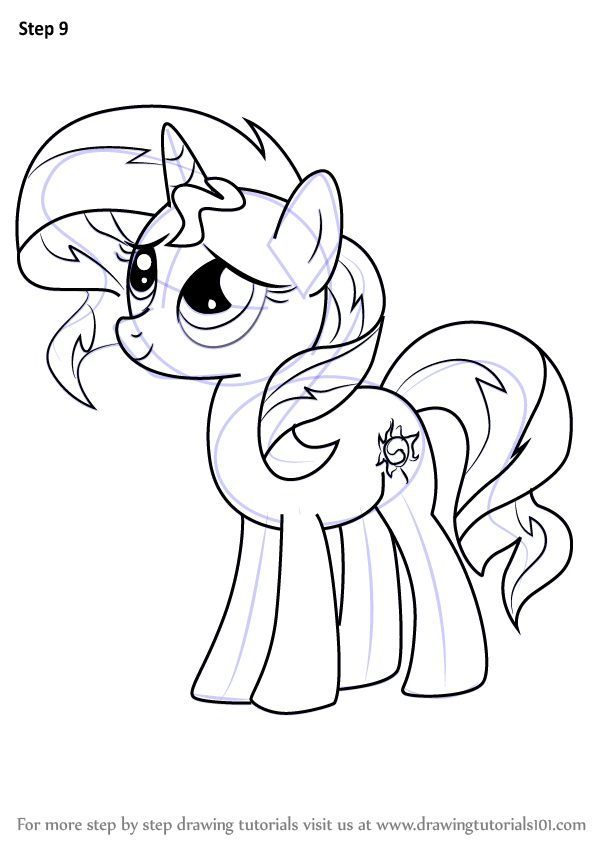 598x844 Learn How To Draw Sunset Shimmer Pony From My Little Pony