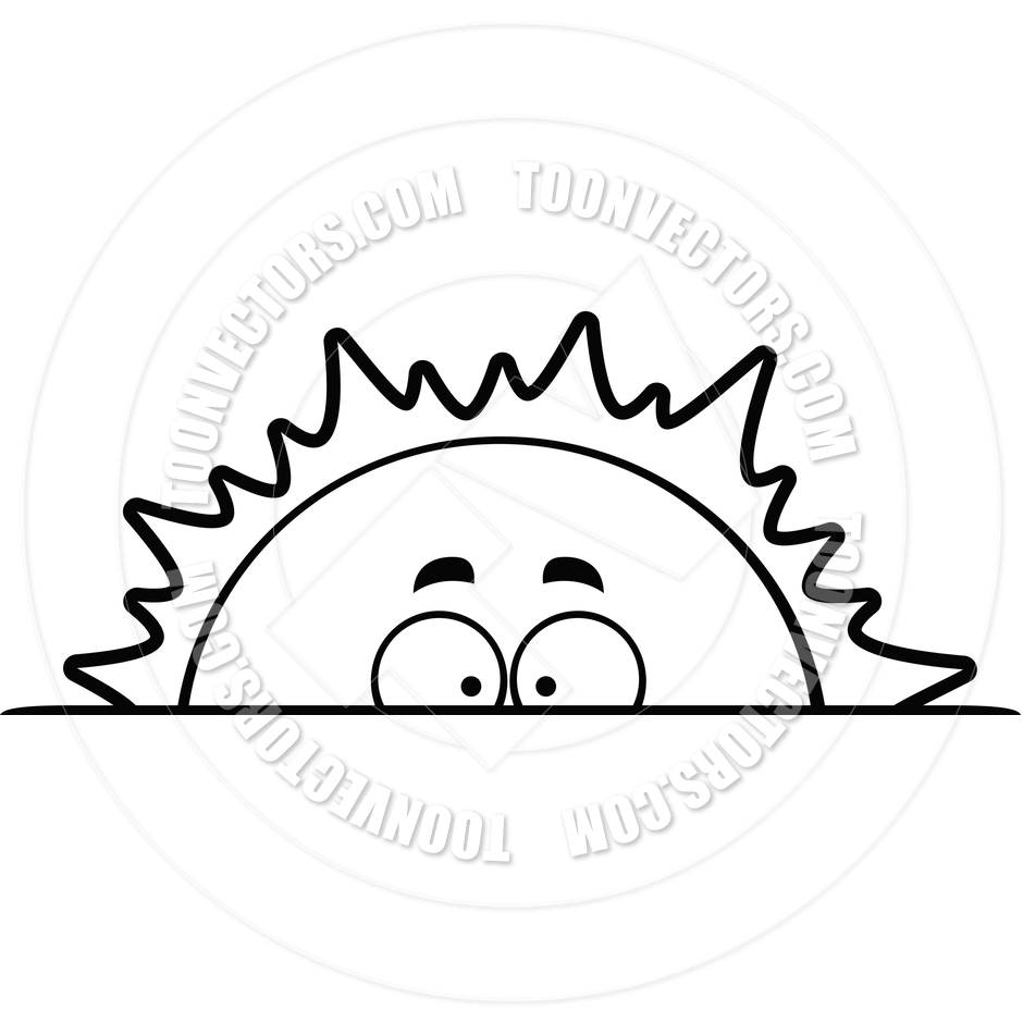 940x940 Sunrise Sunset Black And White Clipart