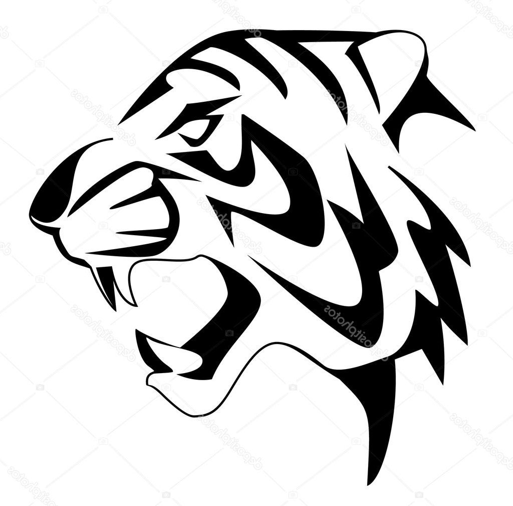 Tiger Line Drawing Easy : Black and white tiger drawing at getdrawings free