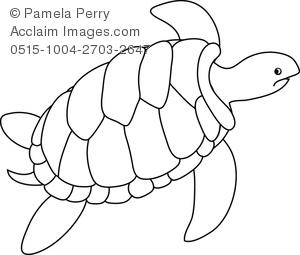 300x255 Turtle Outline Clip Art Clip Art Image Of A Turtle Coloring Page