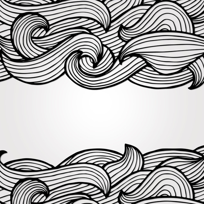 Black And White Wave Drawing at GetDrawings com | Free for personal