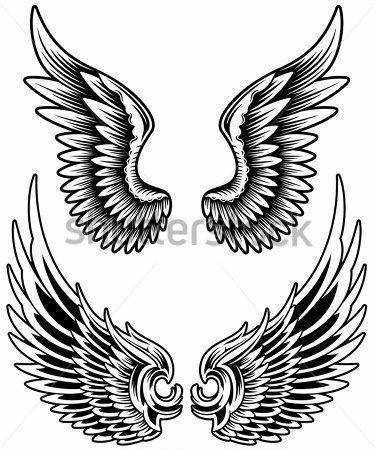 Black Angel Wings Drawing