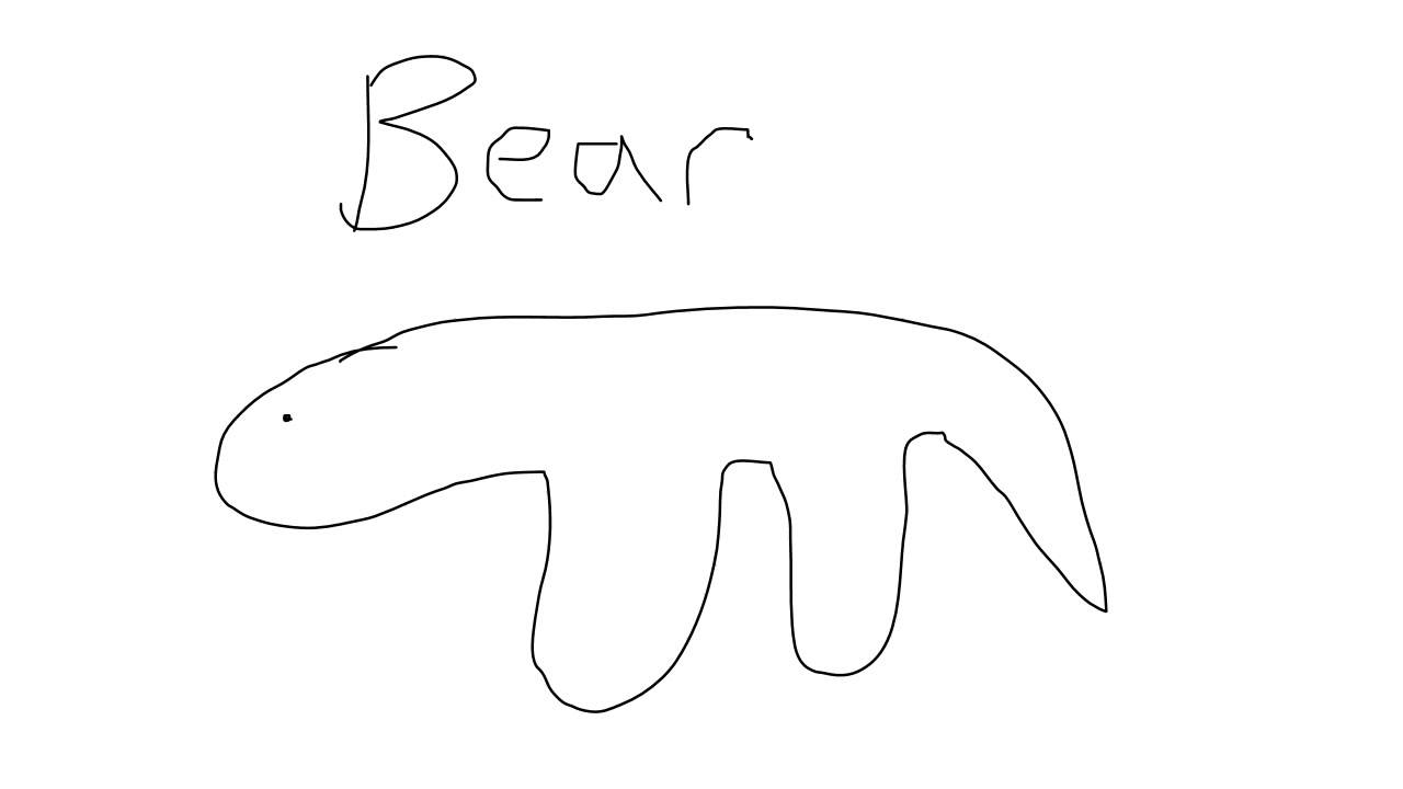 1280x720 Drawing Of Bear