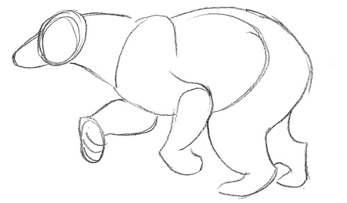 680x398 How To Draw A Running Black Bear