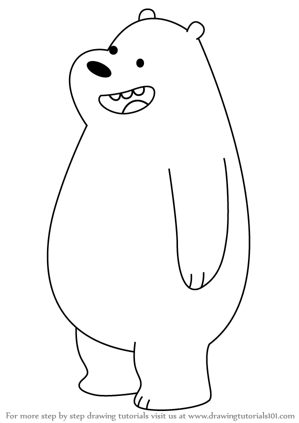 598x844 Learn How To Draw Gizzly Bear From We Bare Bears (We Bare Bears