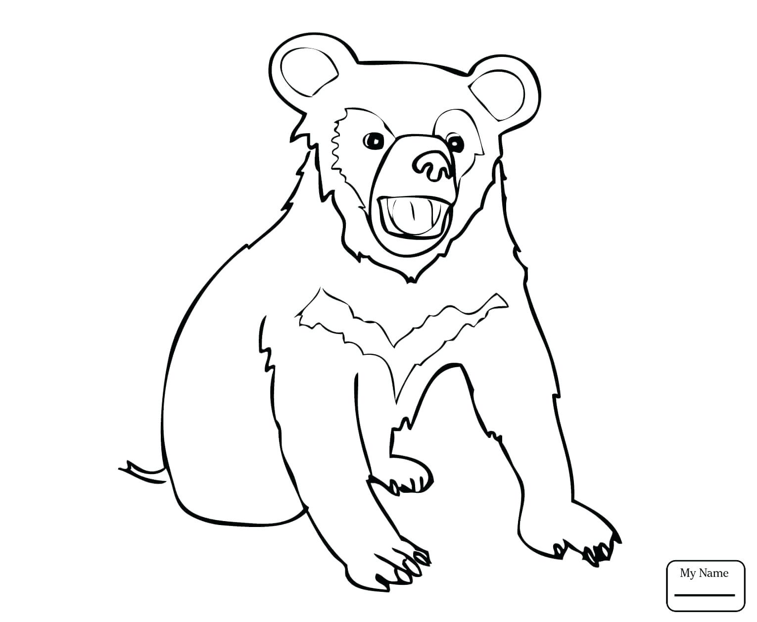 1530x1257 Coloring Black Bear Coloring Page